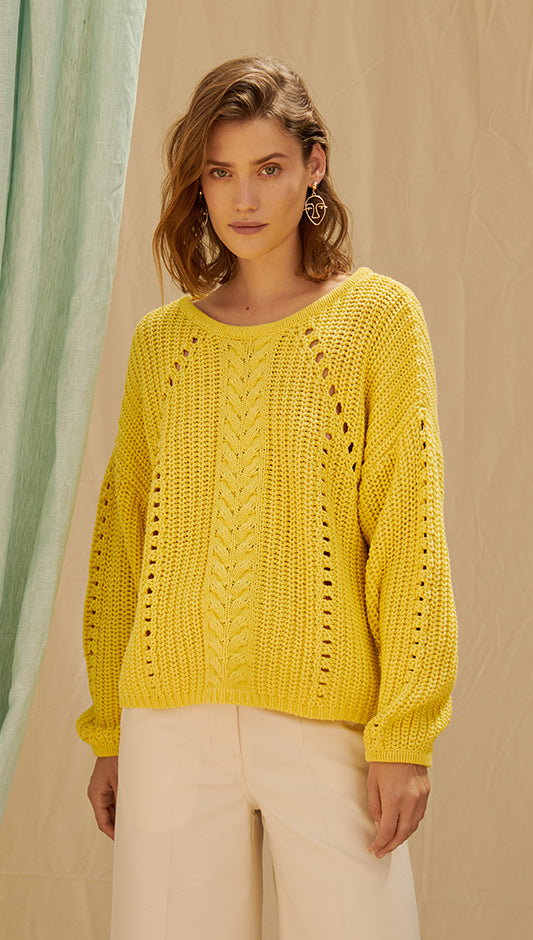 FABIANNA SWEATER - YELLOW