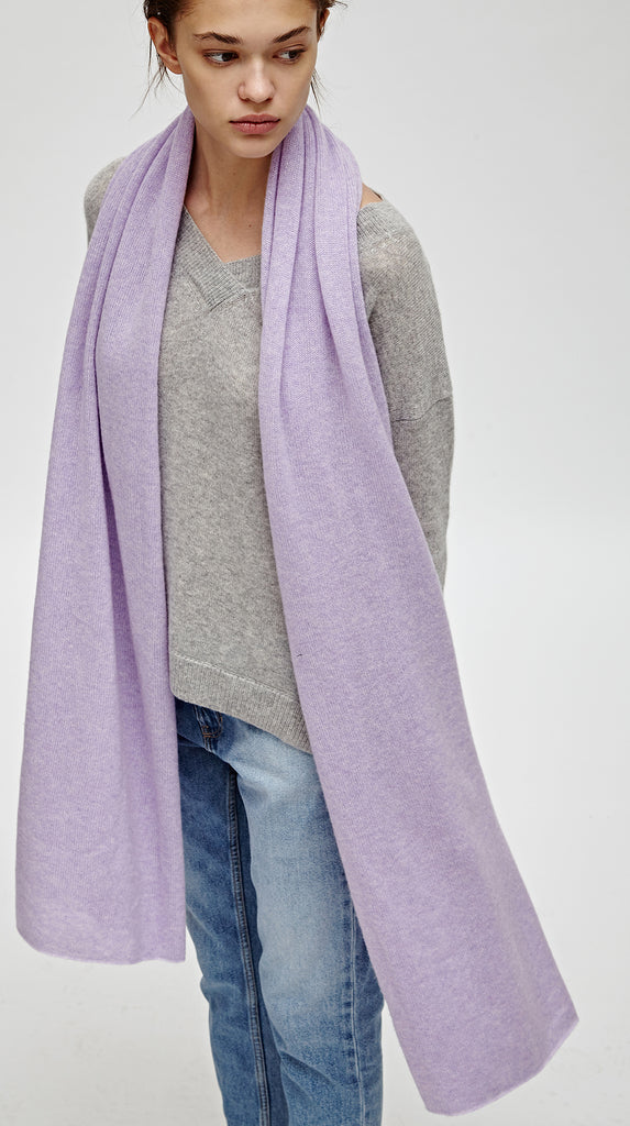 CASHMERE TRAVEL WRAP - LAVENDER