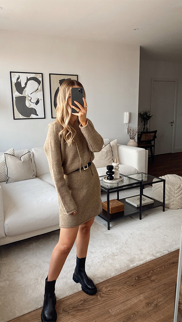 AMELIA DRESS - TAUPE