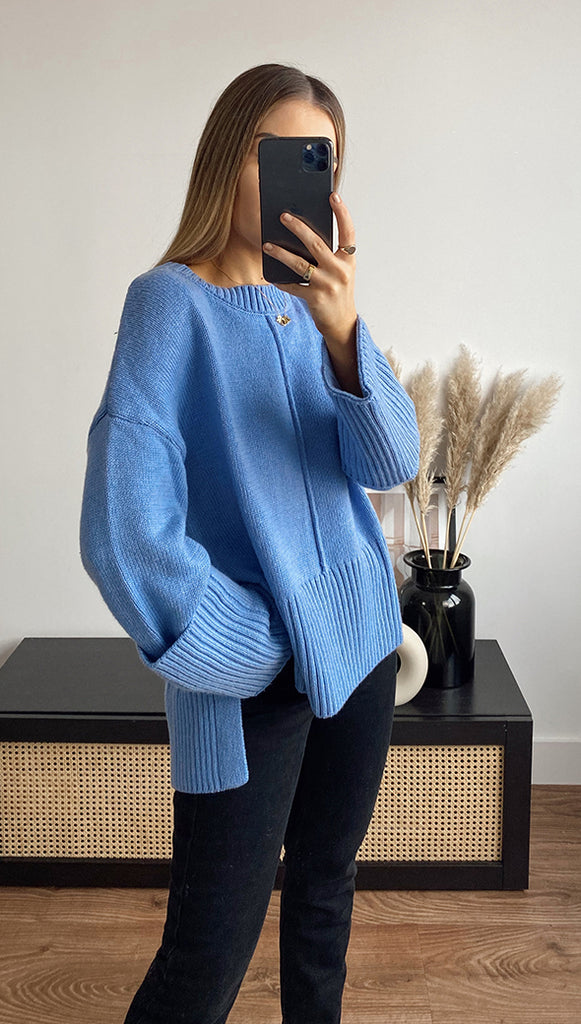 LYNX SWEATER - BLUEBELL