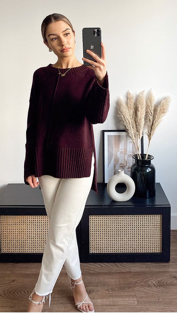 LYNX SWEATER - PLUM