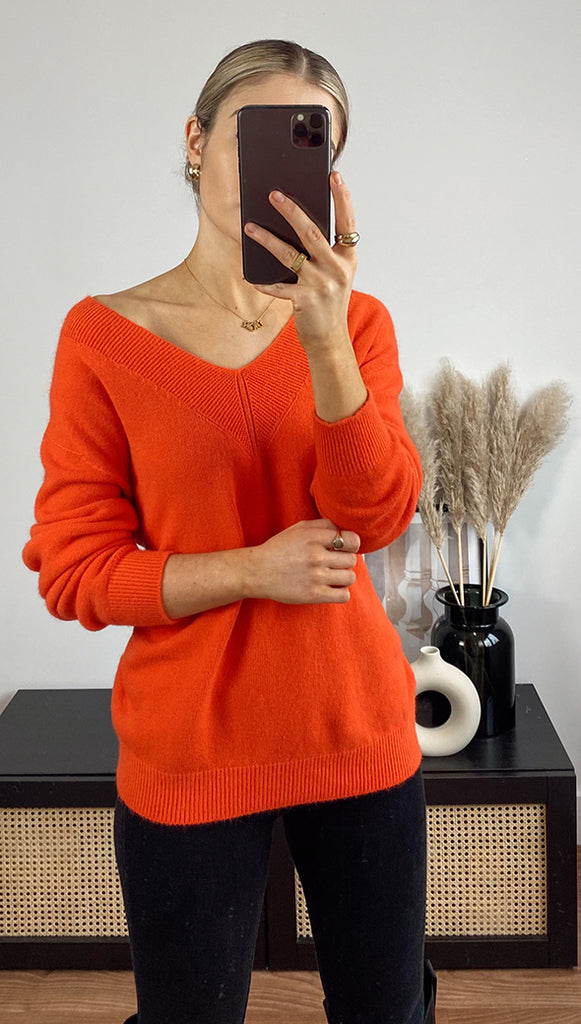 IVY SWEATER - POMEGRANATE