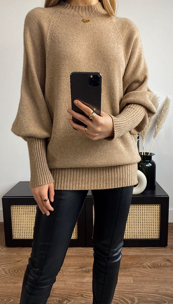SIENA SWEATER - CAMEL
