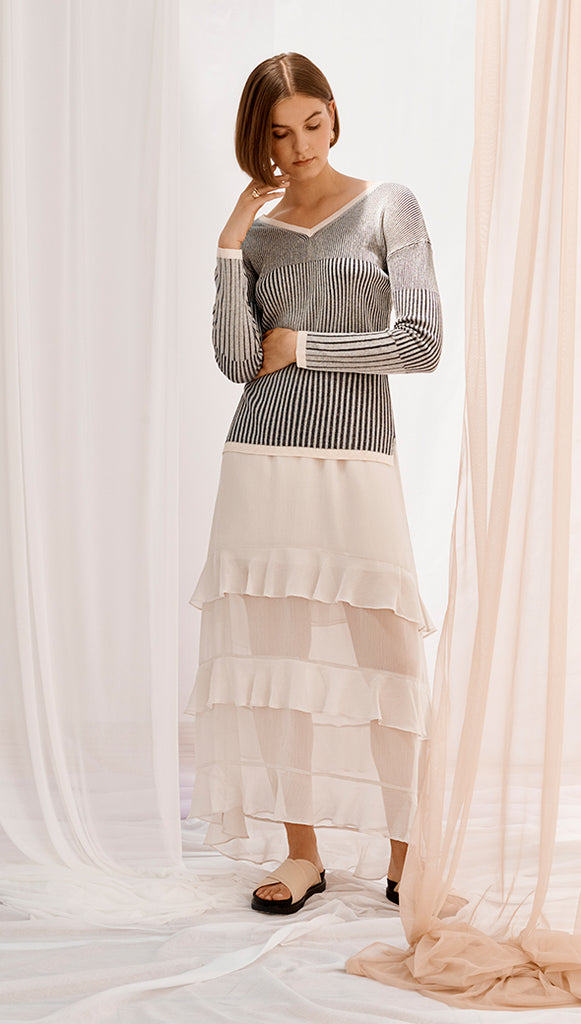 EMANUELLE SKIRT - BONE
