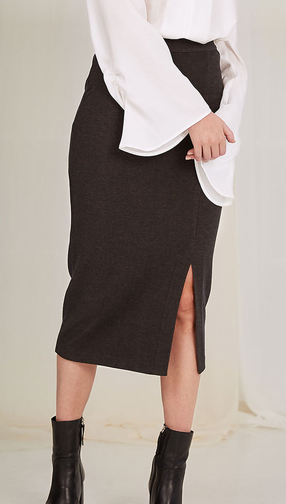 POLLY SKIRT - CHARCOAL