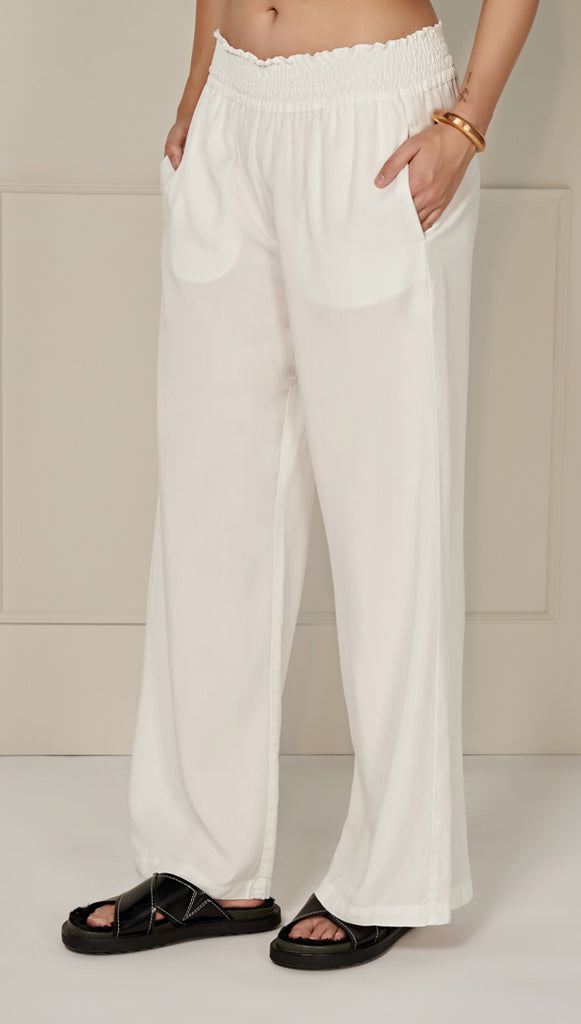CARLY TROUSERS - WHITE
