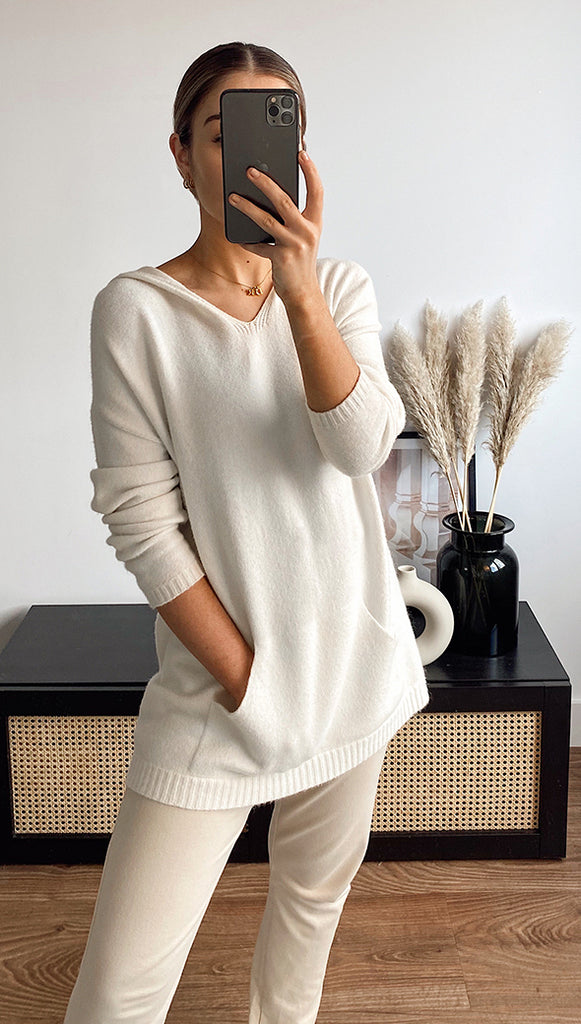 SUNDAY HOODED TOP - IVORY