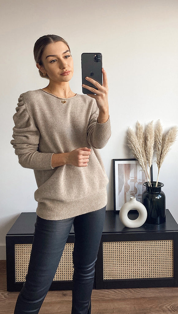 WILLOW SWEATER - CAMEL