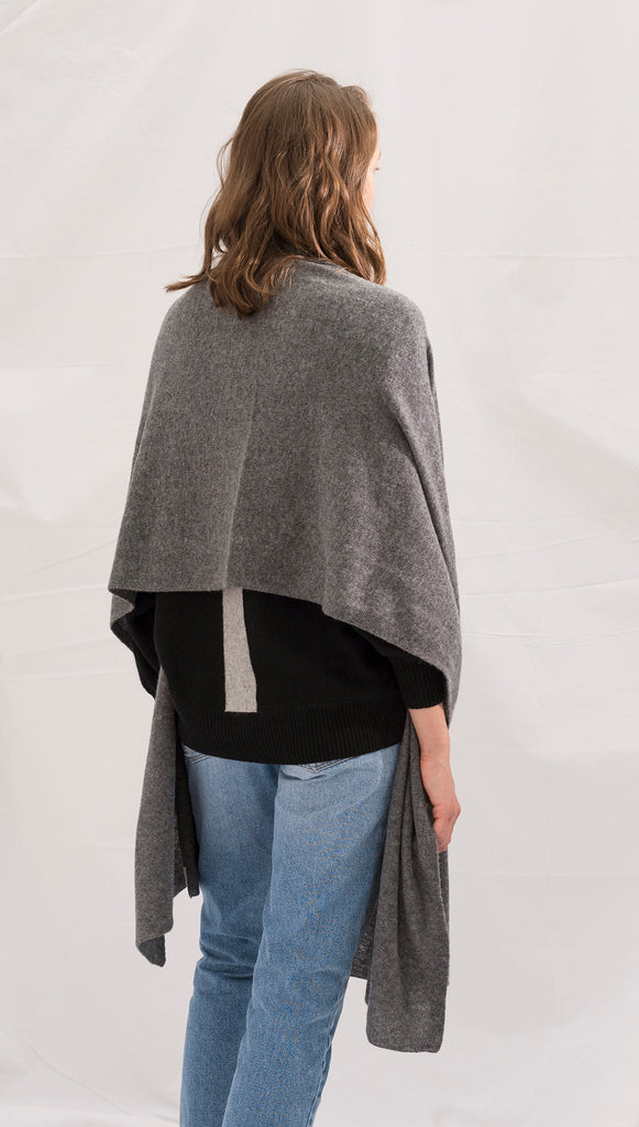 CASHMERE TRAVEL WRAP - NIGHT MIST
