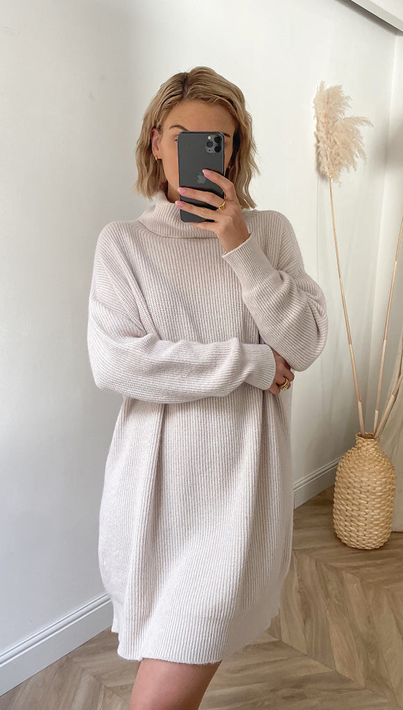 TALIA SWEATER DRESS - IVORY