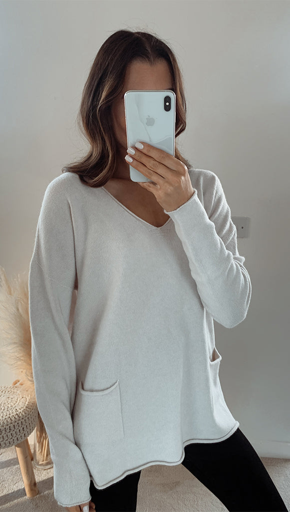 TEAGAN SWEATER - IVORY