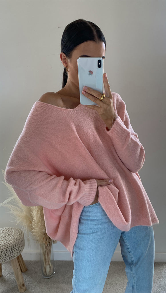 EVA SWEATER - DUSTY PINK