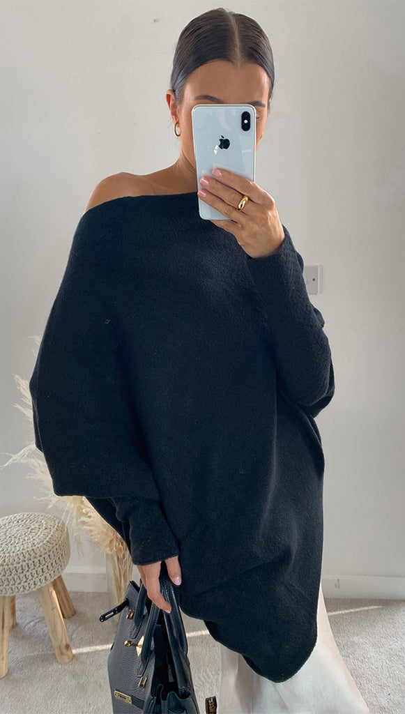 AUDRINA SWEATER - BLACK