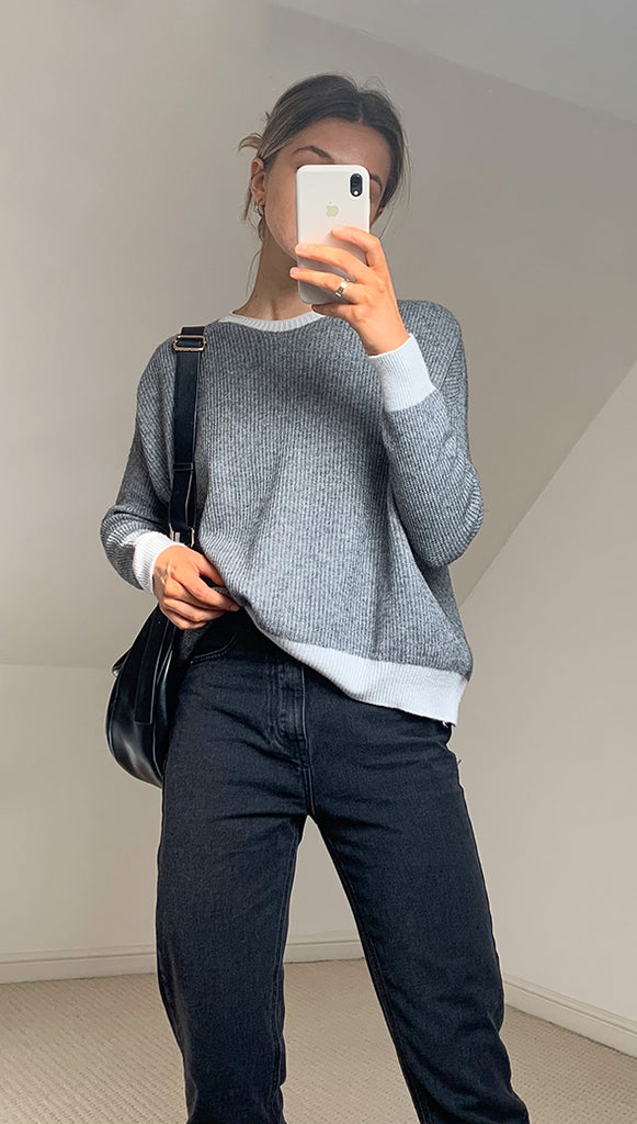 CHIARA SWEATER - GREY MARL
