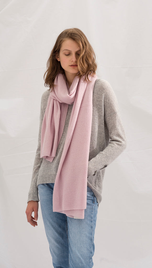 CASHMERE TRAVEL WRAP - ROSE DUST