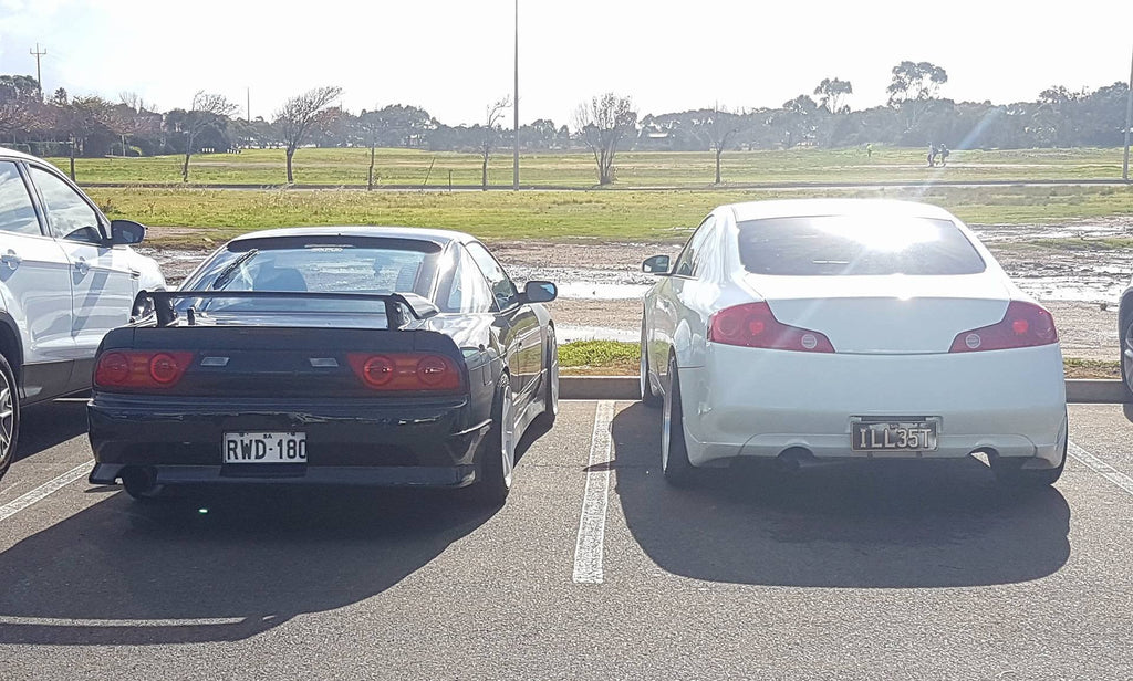 Nissan Silvia 180SX and Nissan Skyline 350GT - Adelaide Japanese Car Spotting