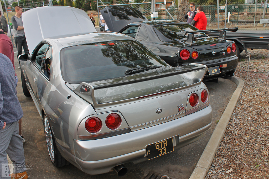 Nissan Skyline R33 GTR and Nissan Skyline R34 GTR VSPEC II NUR - Adelaide Japanese Car Spotting