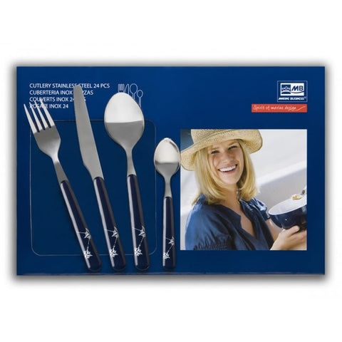 NORTHWIND 24 Piece| 6 Person Cutlery Set - Boating Chic