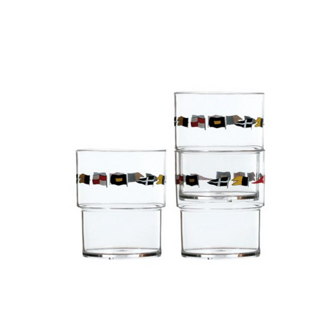 REGATA Stackable Glasses (Set Of 12) - Boating Chic