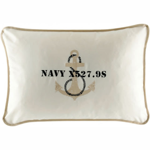 FREESTYLE - Anchor Set Of 2 Cushions 15x23in Ecru - Boating Chic