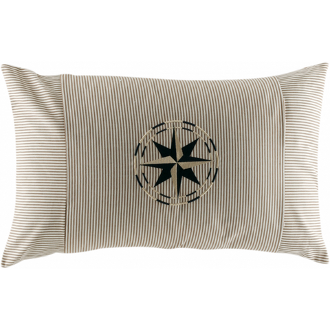FREESTYLE CHIC-Set Of 2 Cushions 15x23in Beige - Boating Chic