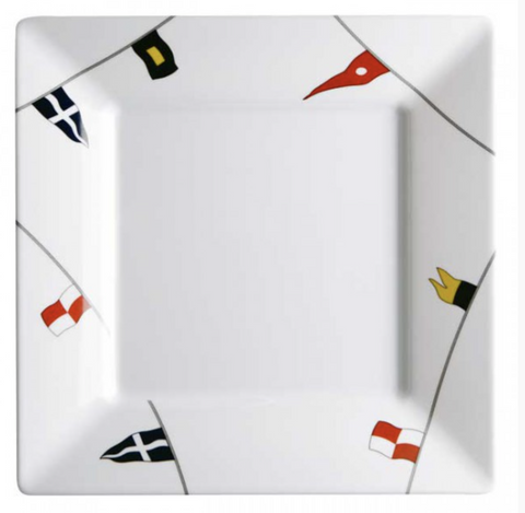 REGATA 24 Piece (6 People) Tableware Square Pack - Boating Chic