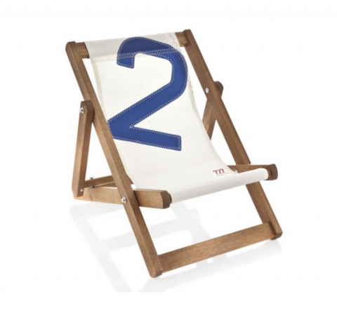 727 Mini deck chair orange - Boating Chic