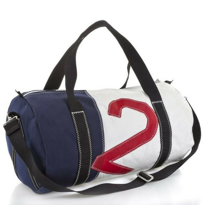 727 Travel Bag Offshore Red/Navy - Boating Chic