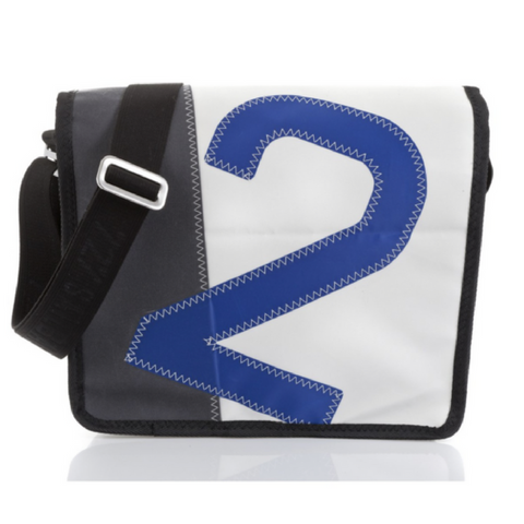 727 Messenger Bag Bill n°2 BLUE/GREY - Boating Chic