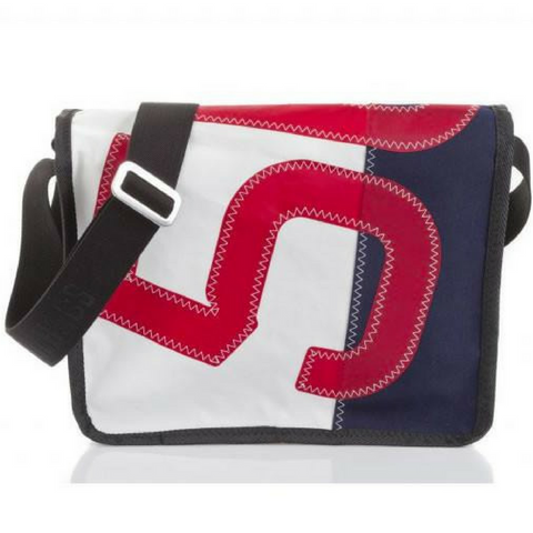 727 Messenger Bag Bill n°5, NAVY/RED - Boating Chic