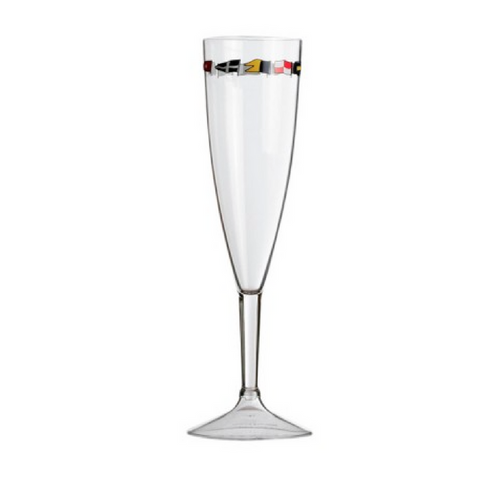 REGATA CHAMPAGNE FLUTE 6 UNIT - Boating Chic