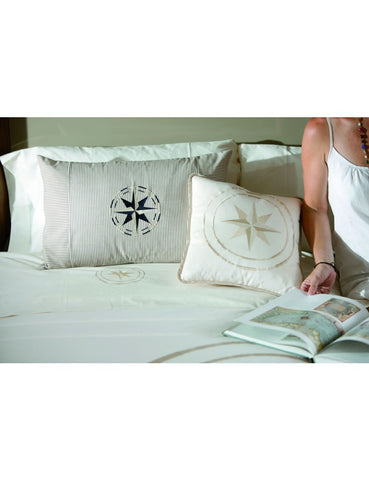 FREE STYLE Classic Set Of 2 Cushions 15x15in Ecru - Boating Chic