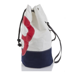 727 Sailor Jack Travel Bag Blue/Red - Boating Chic