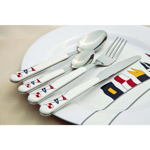 REGATA 24 Piece| 6 Person Cutlery Set - Boating Chic