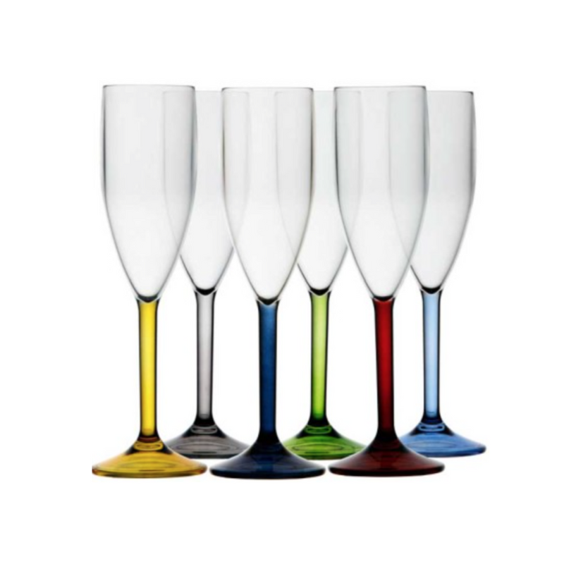 REGATA  CHAMPAGNE FLUTE COLORED BASE - Boating Chic