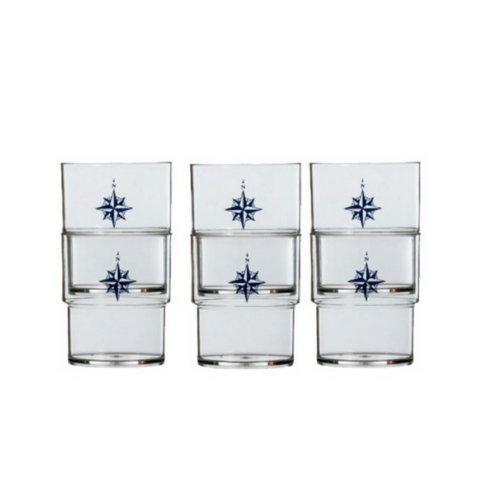 NORTHWIND Stackable Glasses (Set Of 12) - Boating Chic