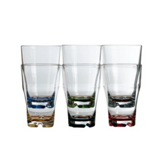 REGATA Stackable Soda Glass - Coloured Base - Boating Chic
