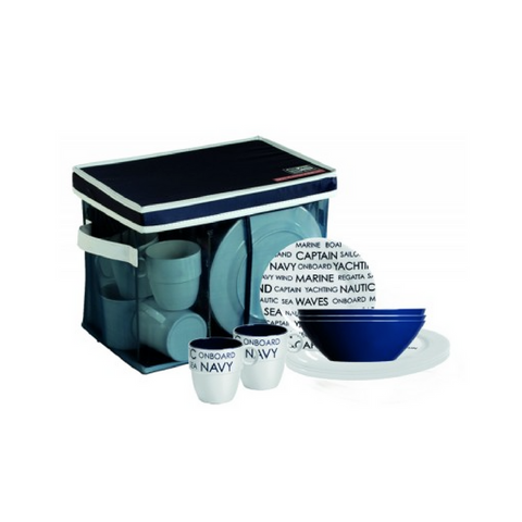 SEA 24 Piece (6 People) tableware set - Boating Chic