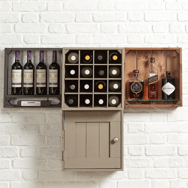 Wine shelving unit. Grain001 wall display