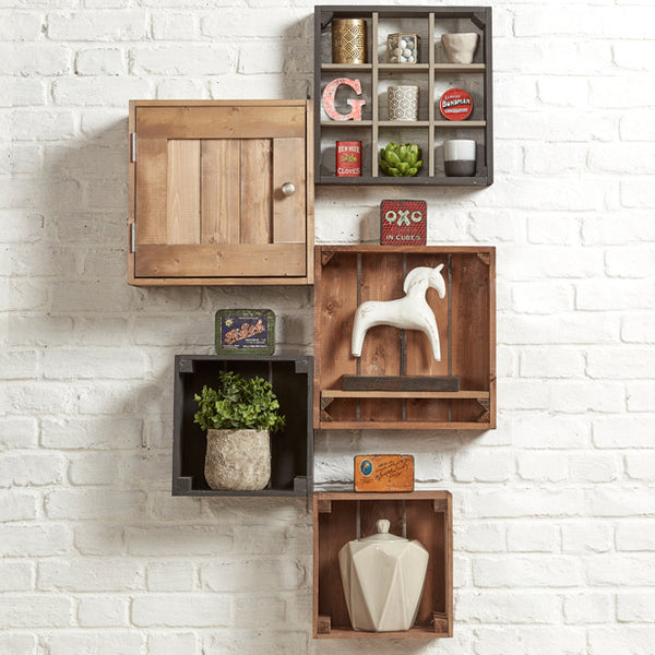Nooks & crannies. Grain006 - Wall mounted shelving
