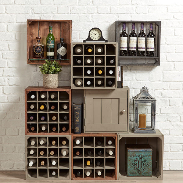Wine storage cabinet. Rustic wine display, Wine shelving, fine wine crates,