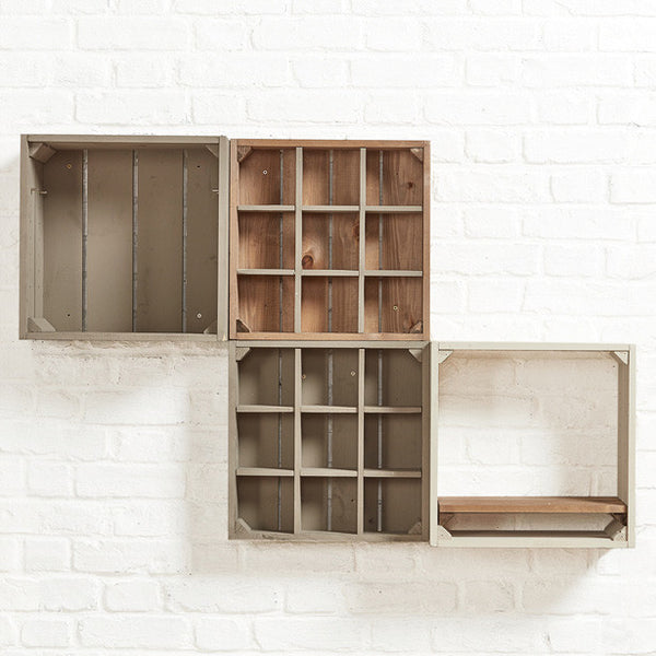 Wall crates, Mug display