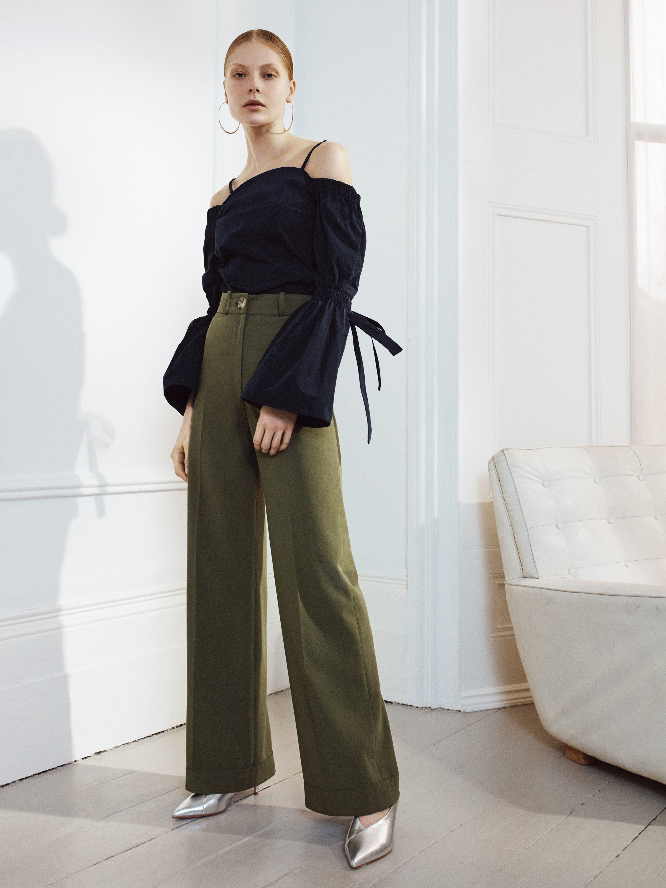 Rita Trousers Summer Khaki Isabelle Fox