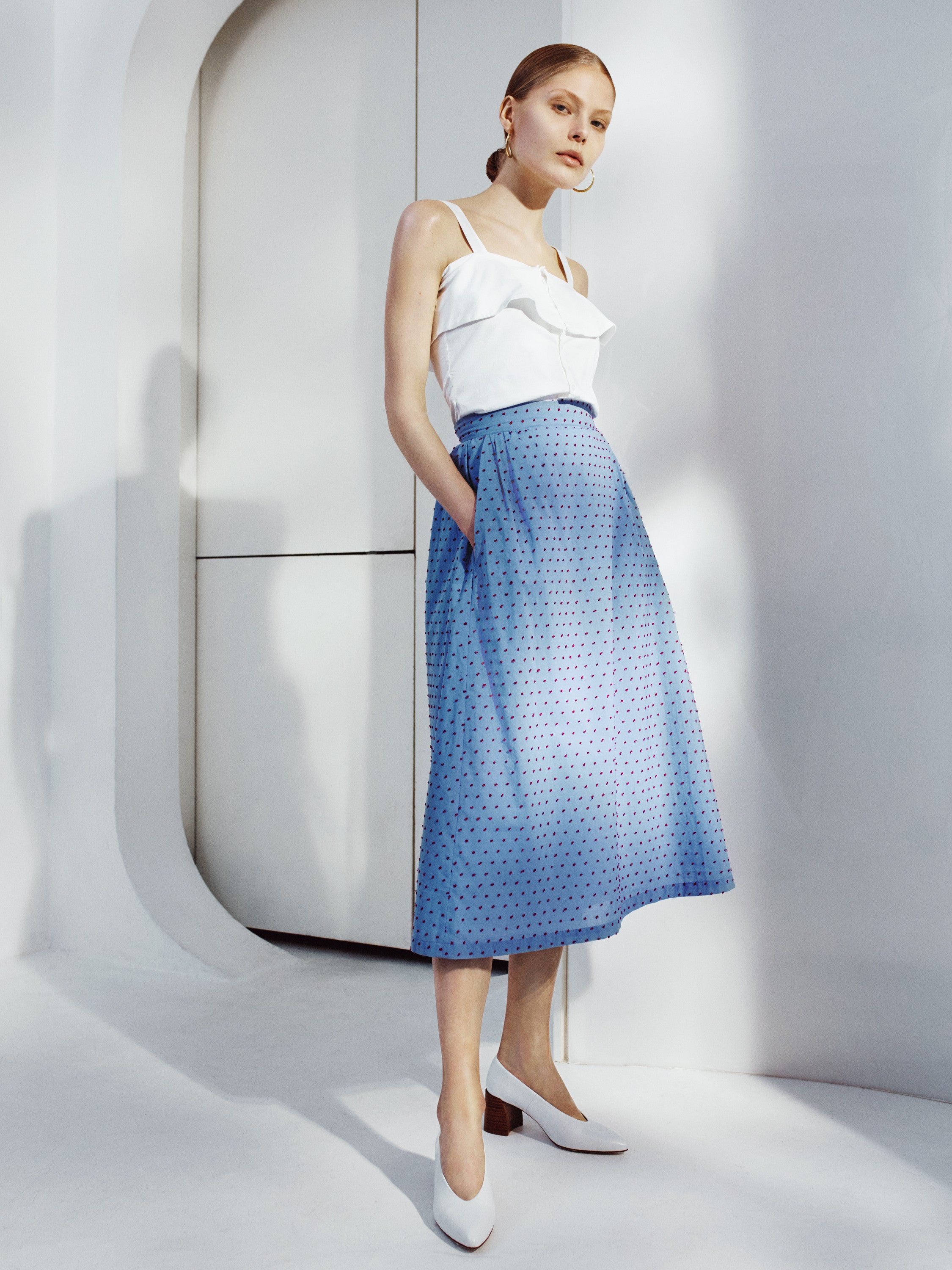 Isabelle Fox Blue Audrey Skirt
