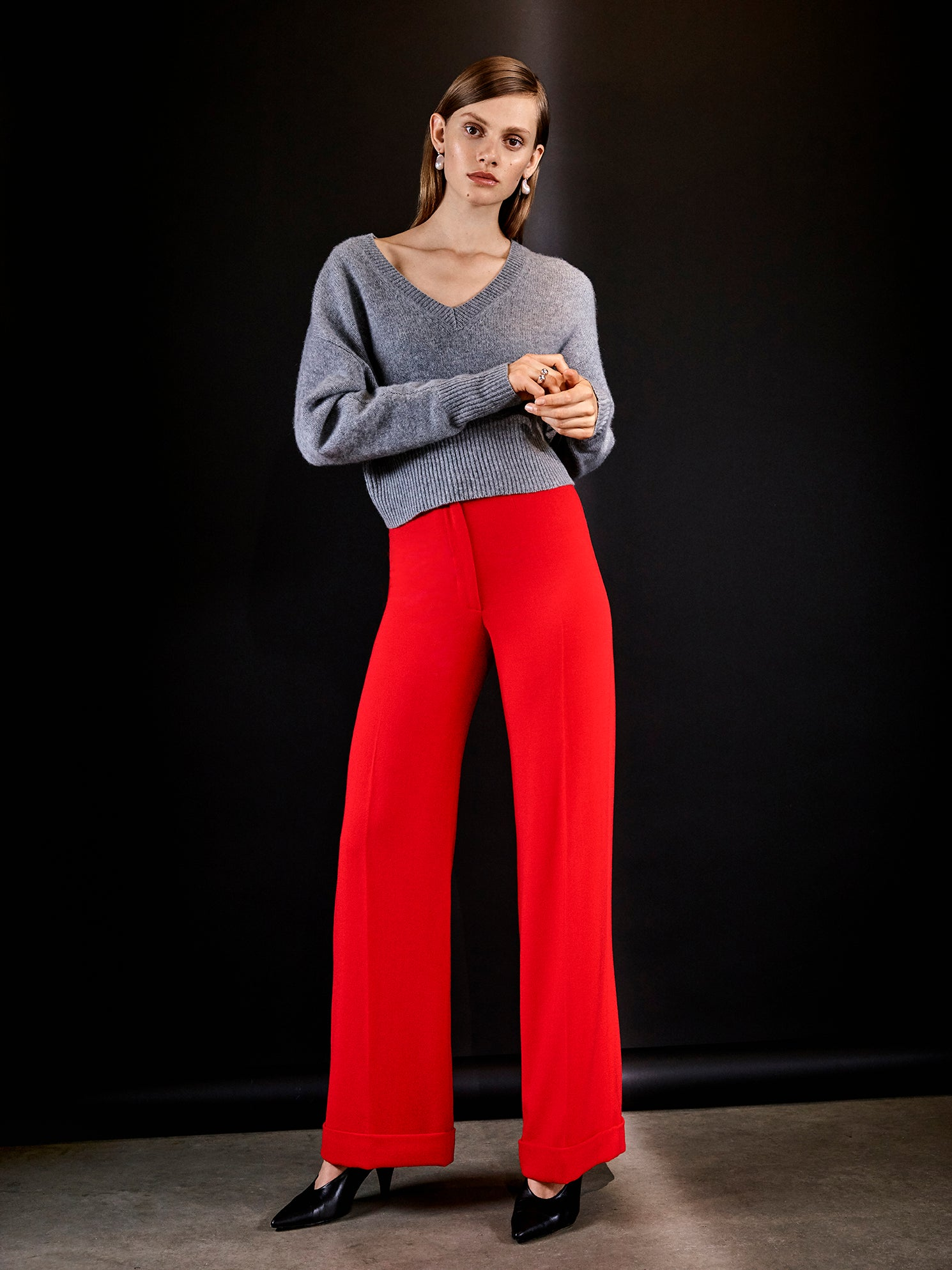 Isabelle Fox Rita trousers red