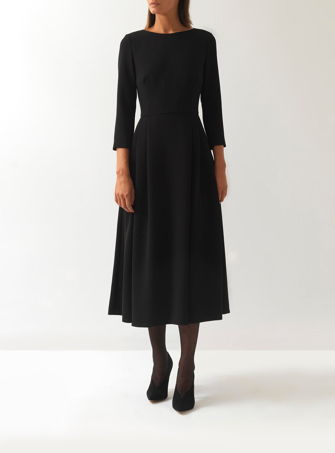 Dovima Crepe Midi Dress