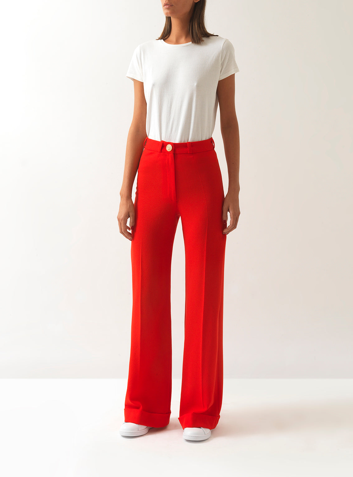 Rita Wide-Leg Wool Trousers