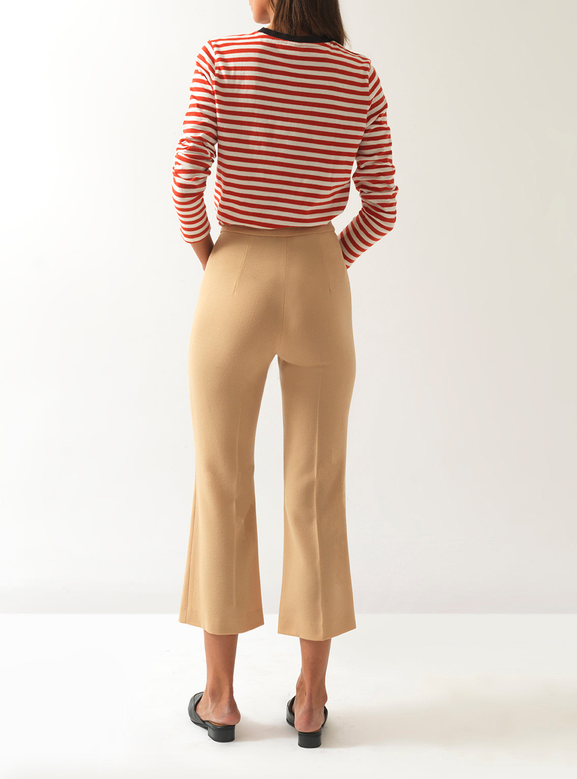 Françoise Cropped Wool Trousers