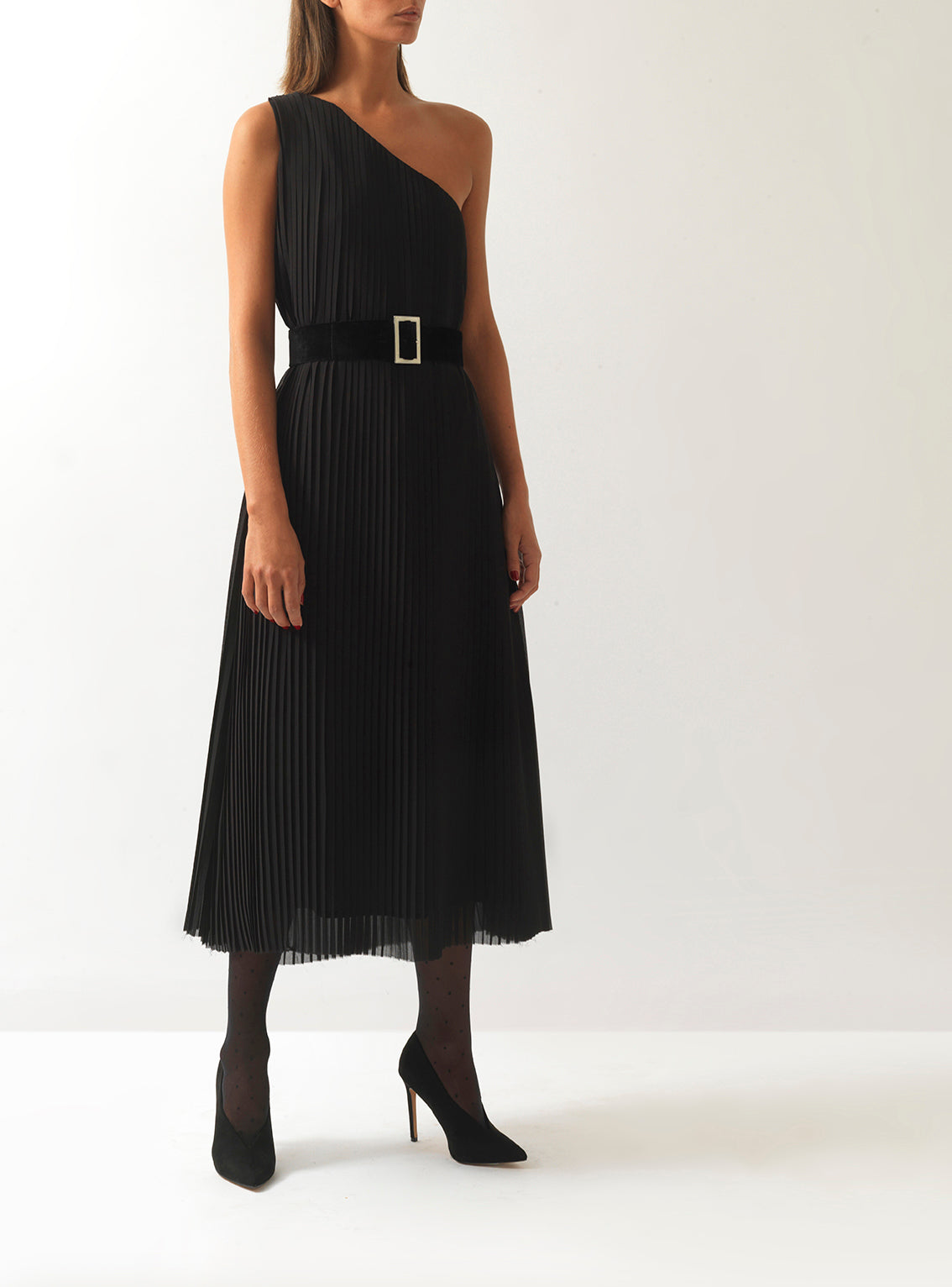 Bianca Pleated Midi Dress