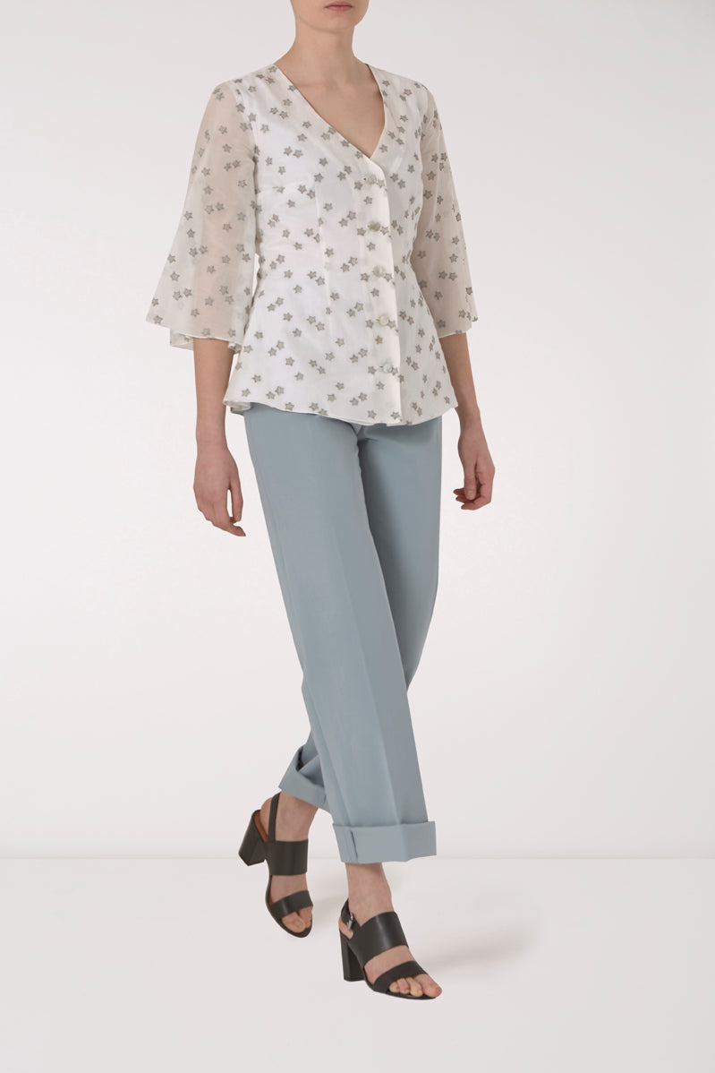Ursula Silk Button-Down Top
